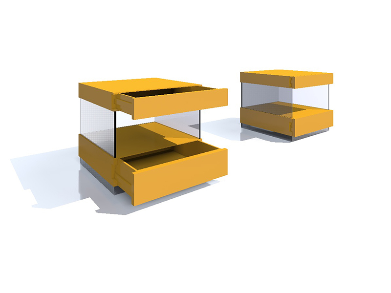 mesa de noche esmalte amarillo