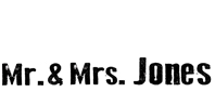 Logo Mr and Mrs Jones