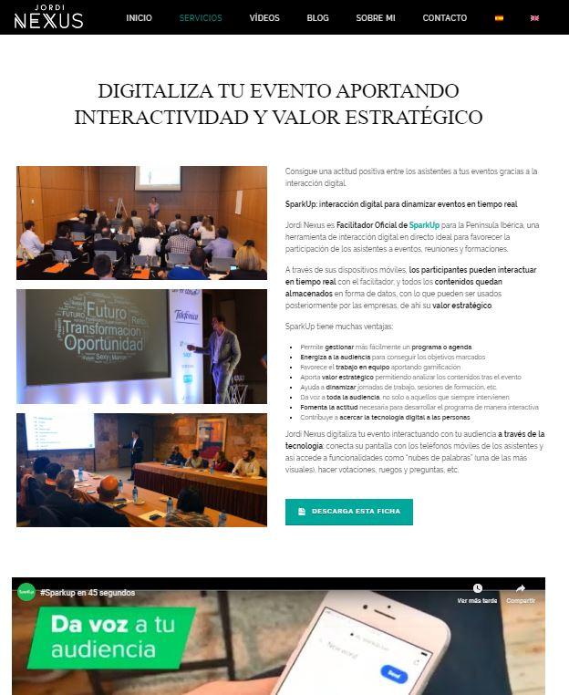 Pantallazo Web Jordi Nexus 2
