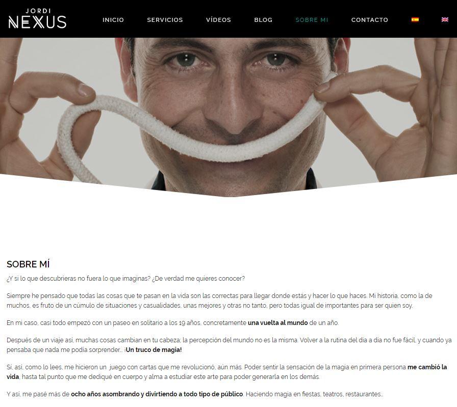 Pantallazo Web Jordi Nexus 3